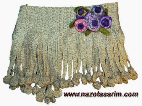 Fringed knit collar