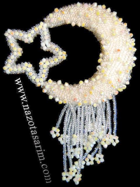 Moon star brooch
