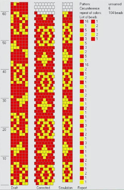 Crochet bead ropes schemes - Hapishane işi boncuk diziliş şemaları (1/6)