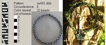 Hapishane işi boncuk diziliş şemaları – crochet bead ropes