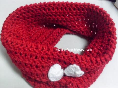 Crochet Red Collar