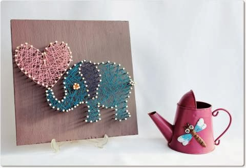 Elephant Modern String Art