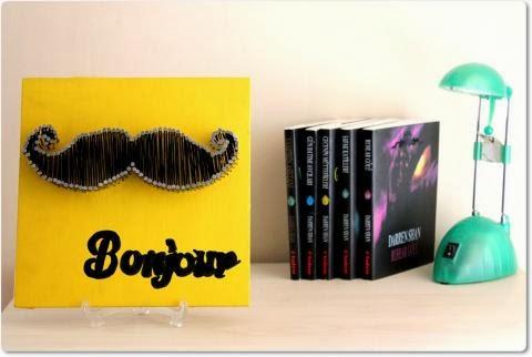 Mustache String Art