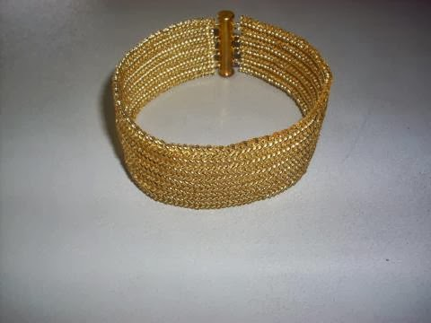 Golden yellow bead Bracelet
