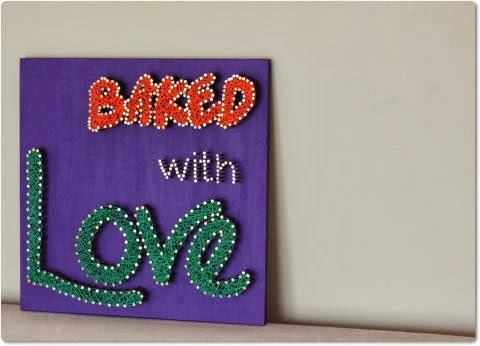 Baked With Love Modern String Wall Art