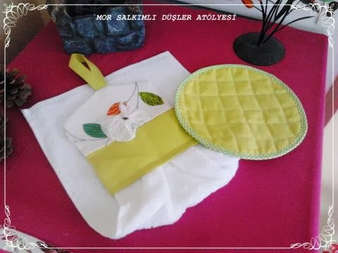 Kitchen Towels And Trivet
