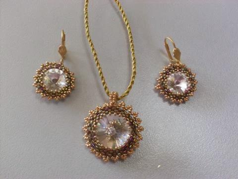 Golden and brown colorful Swarovski Crystal Team