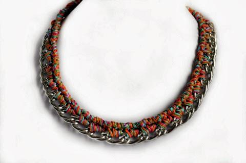 Silver color necklace