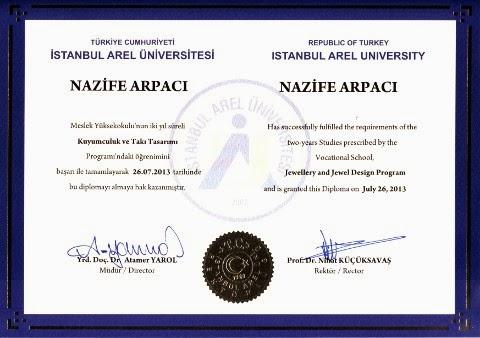 Kuyumculuk ve Takı Tasarımı Diploması