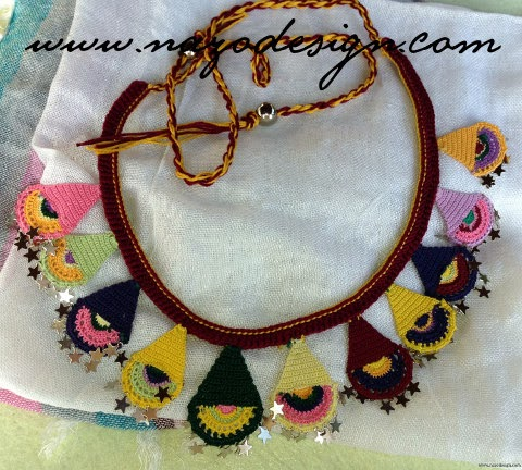 Beaded Crochet Neckalce